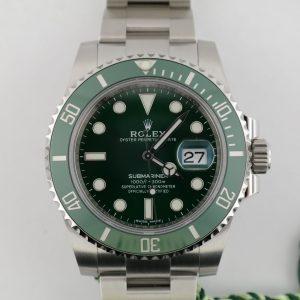 "Rolex Submariner Date 116610LV Green Dial & Bezel ""Hulk"" Oyster Band Unworn 2020"