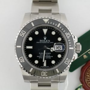 Men's Rolex Submariner Date 116610LN Black Ceramic Bezel Oyster Band 40mm 2014
