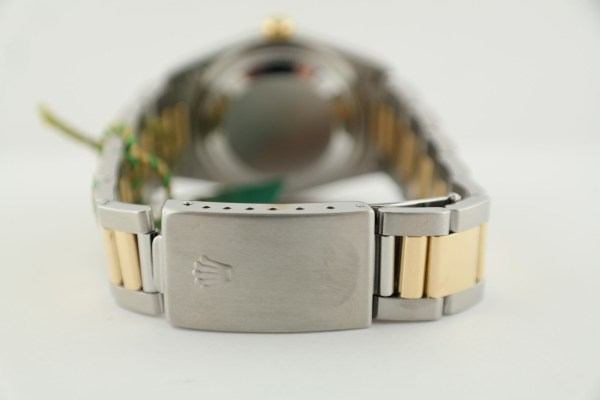 Rolex Datejust 16203 Champagne Stick Dial Oyster Band Box & Papers Circa 2002