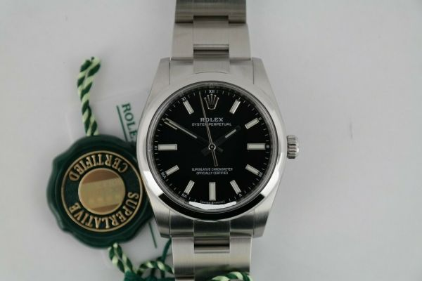 Rolex Oyster Perpetual 34 124200 Black Index Dial Oyster Band Year 2021