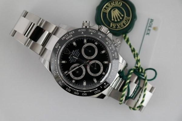 Rolex Daytona 116500LN Black Dial Ceramic Bezel Oyster Band Year 2021
