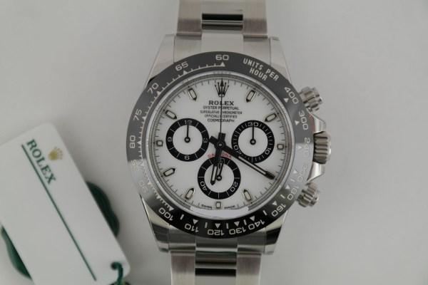 Rolex Daytona 116500LN White Dial Chronograph Oyster Band Ceramic Bezel