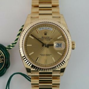 Rolex Day-Date 36 128238 Champagne Index Dial President 18K Yellow Gold Year 2021 Up for sale is a beautifulauthenticRolex Day-Date 36 Ref # 128238