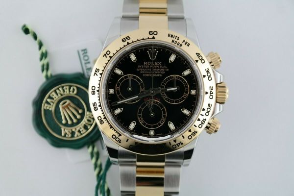 Rolex Daytona 116503 Black Index Dial Two-Tone Oyster Band Chronograph Year 2021