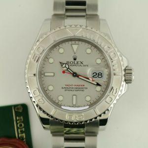 Rolex Yacht-Master 16622 Silver Dial Oyster Band Platinum Bezel