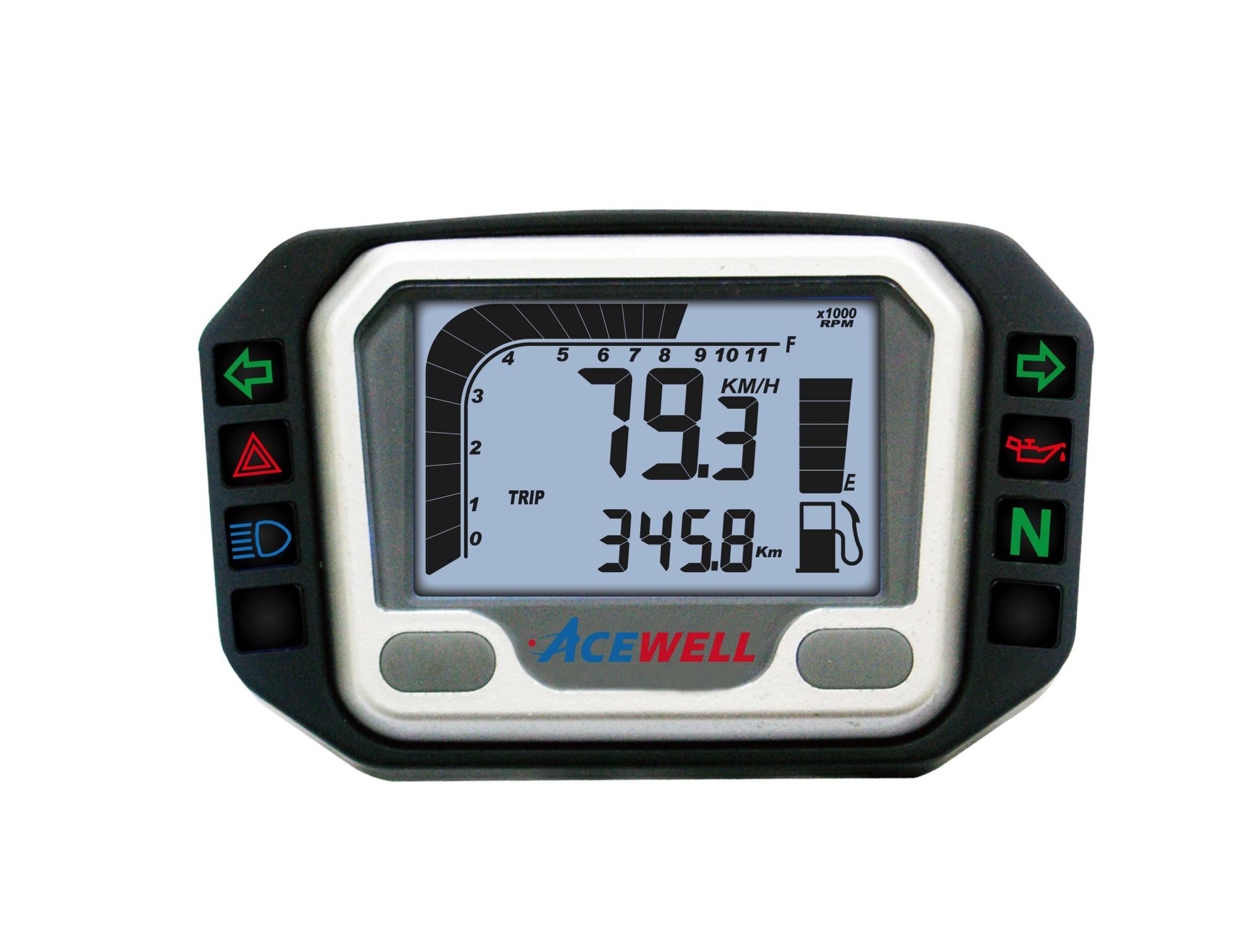 hight resolution of ace 3000 sereis digital lcd display multi function speedometer