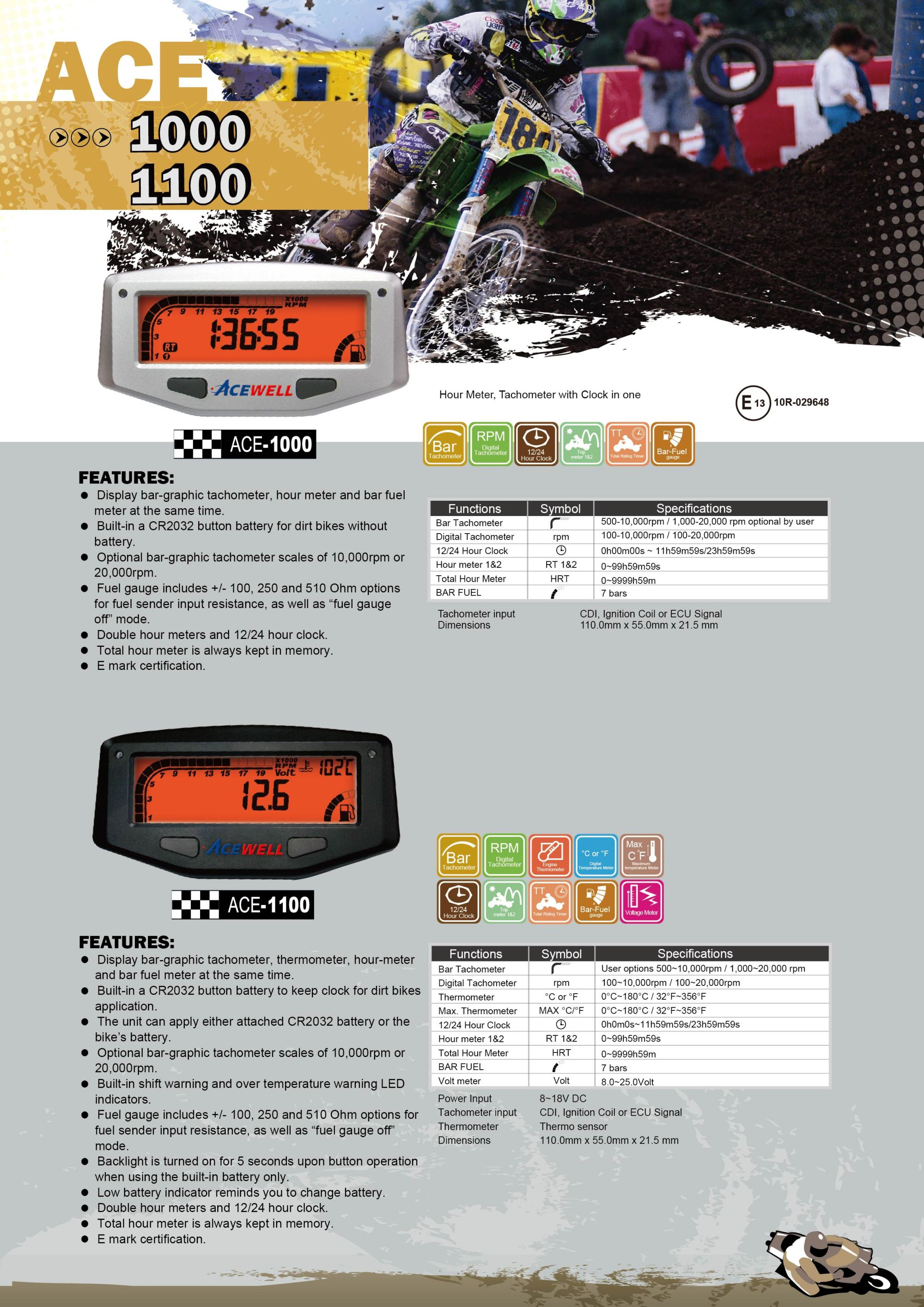 hight resolution of ace 1000 sereis digital lcd display multi function speedometer ace 1500 series ac ace wiring diagram