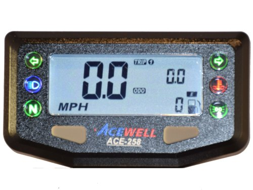 small resolution of acewell acewell speedometers ace 2xx ace 258 speedometer warning lamps digi dash digital speedomter motorcycle computer