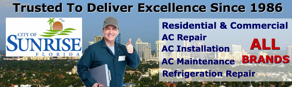 ac repair service Sunrise FL air conditioning installation maintenance contractors South Florida