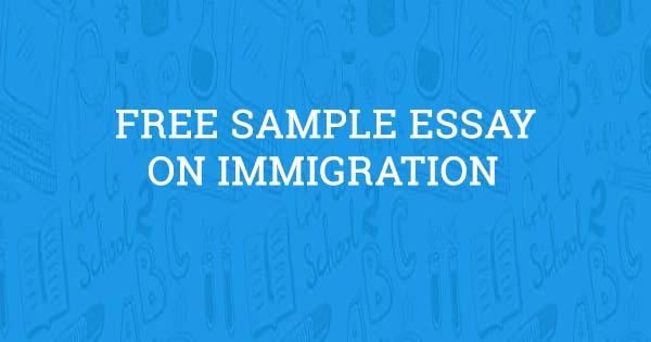 Immigration Essay  Aceyourpapercom