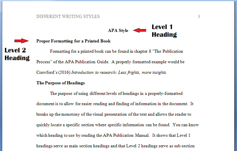 sample essay using apa format