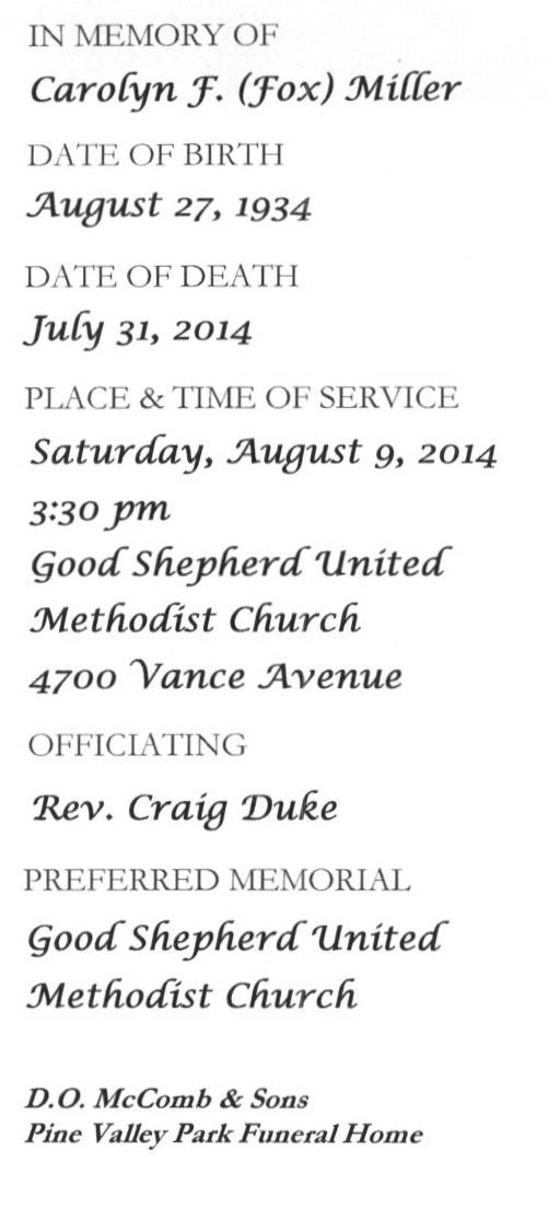 Beverly Garland Funeral