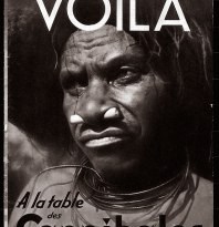 "<i>""At the Cannibals' table"" </i>[France], magazine cover of <i>Voilà,</i> 1939. © Groupe de recherche Achac / DR"
