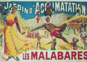 <i>The Malabars. Jardin d'Acclimatation</i> [Paris, France], poster by G. Smith, 1902. ©Groupe de recherche Achac / DR