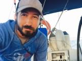Bearded sea-hobo selfie
