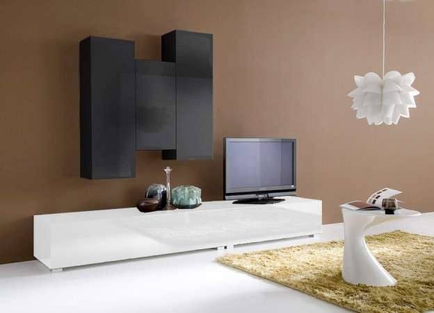 ensemble tv suspendu laque design elegance achatdesign