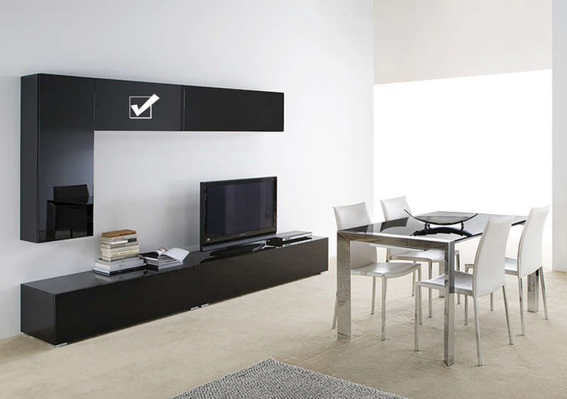 Meuble Tv Suspendu Mural Design Laqu HORIZONTAL U S