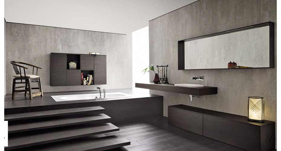 Un bagno moderno con vasca a incasso  Acheo Design