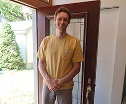photo of Michael standing in doorway