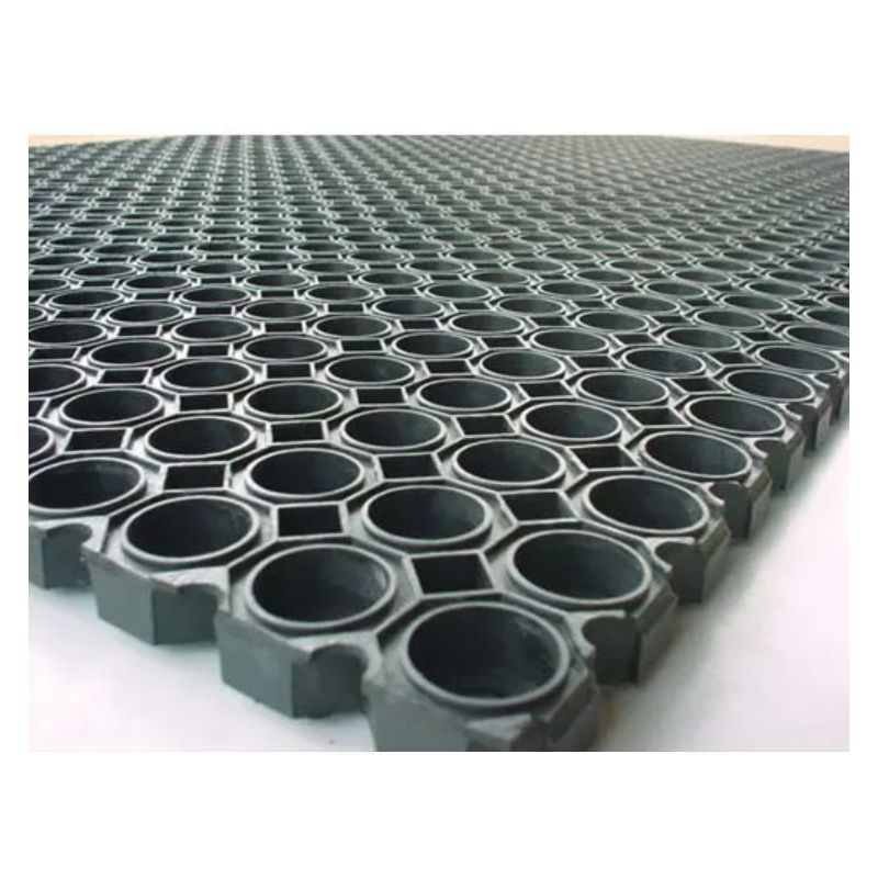 floortex tapis caillebotis noir en caoutchouc d interieur et d exterieur 100 x 150 cm epaisseur 22 mm