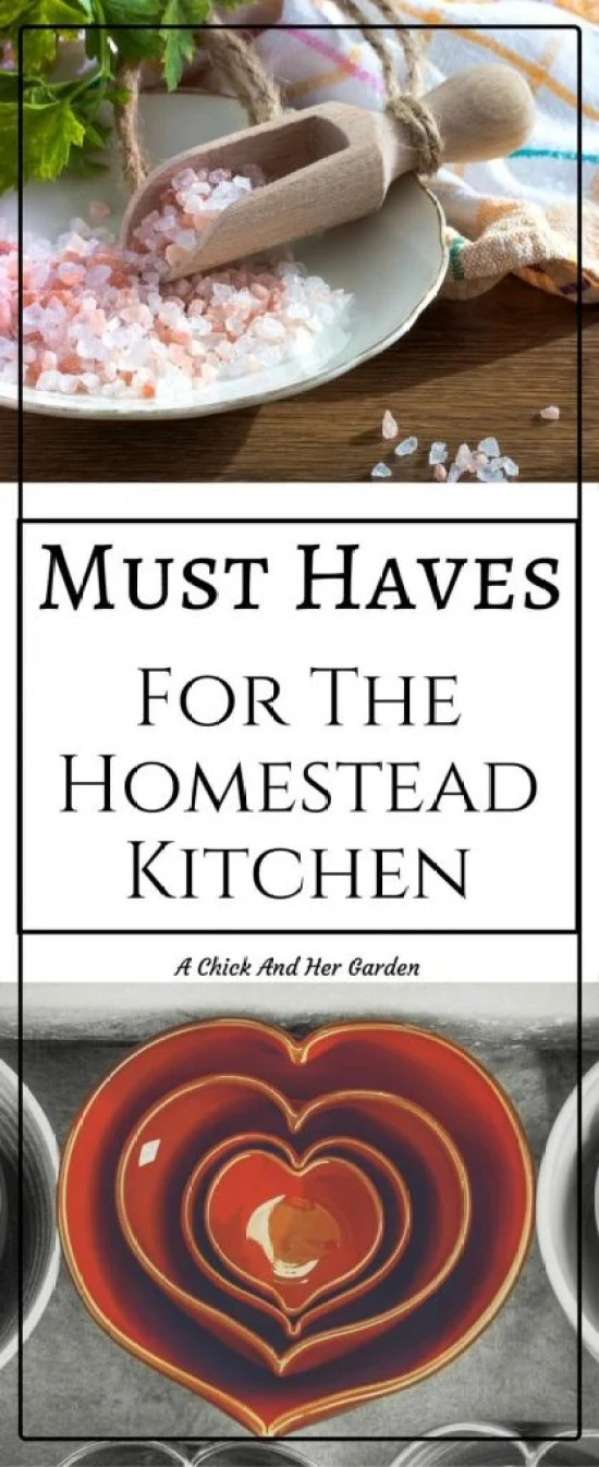 As homesteaders, most of the hard work we do leads right back to the kitchen! Check the must haves for the homesteader kitchen!