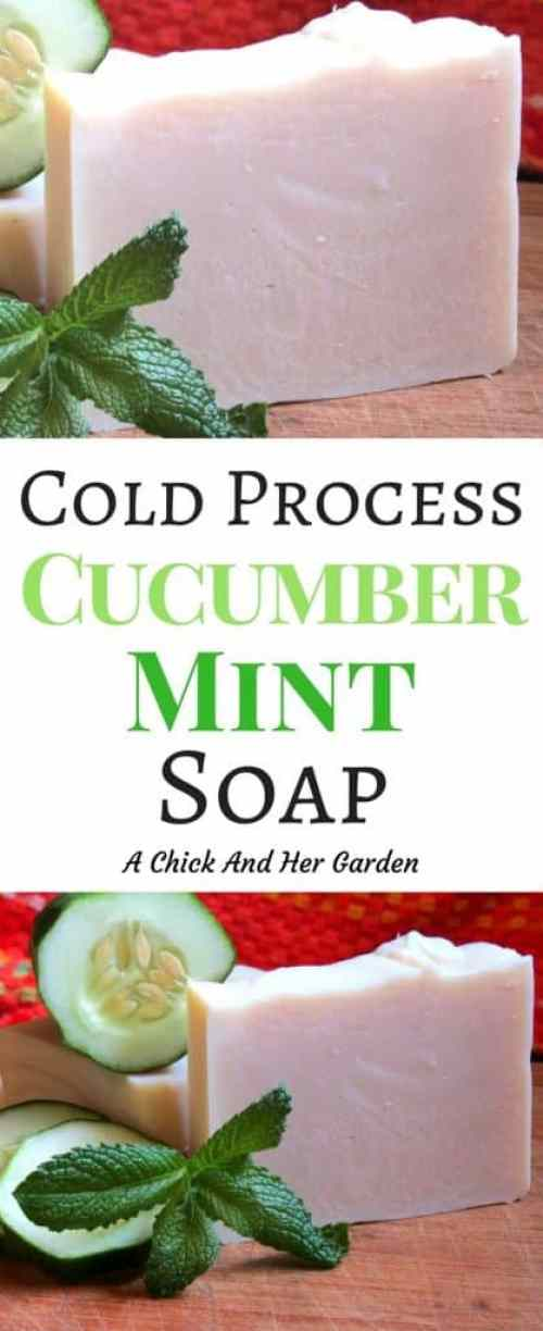 Cold process soap used to scare me! Until I tried my hand at it with this recipe! For a refreshing summer soap try cucumber mint soap!