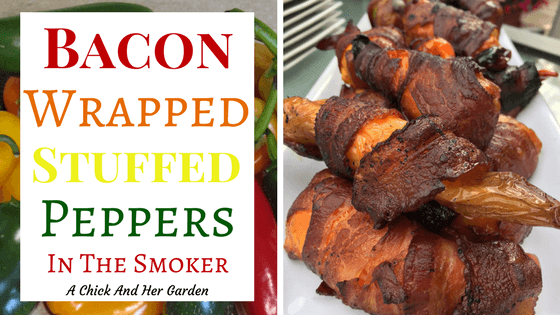 Bacon Wrapped Stuffed Peppers in the Smoker