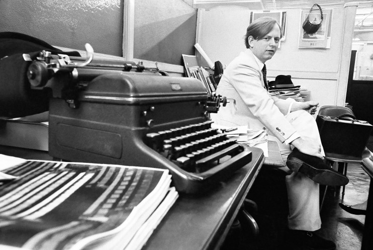 The author Tom Wolfe and his typewriters
