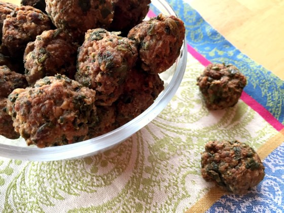 Lamb and Spinach Meatballs