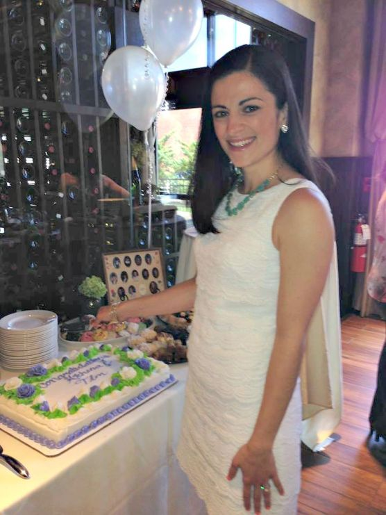 My Bridal Shower - Cutting the Cake