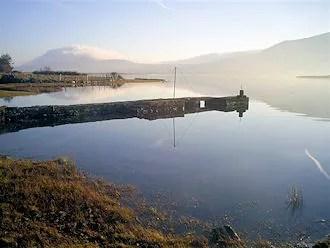 Bleanaskill Lodge: pier in The Sound