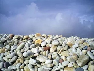 Keel Strand: pebbles in many colours