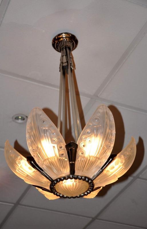 Georges Leleu Chandelier Art Deco 1930