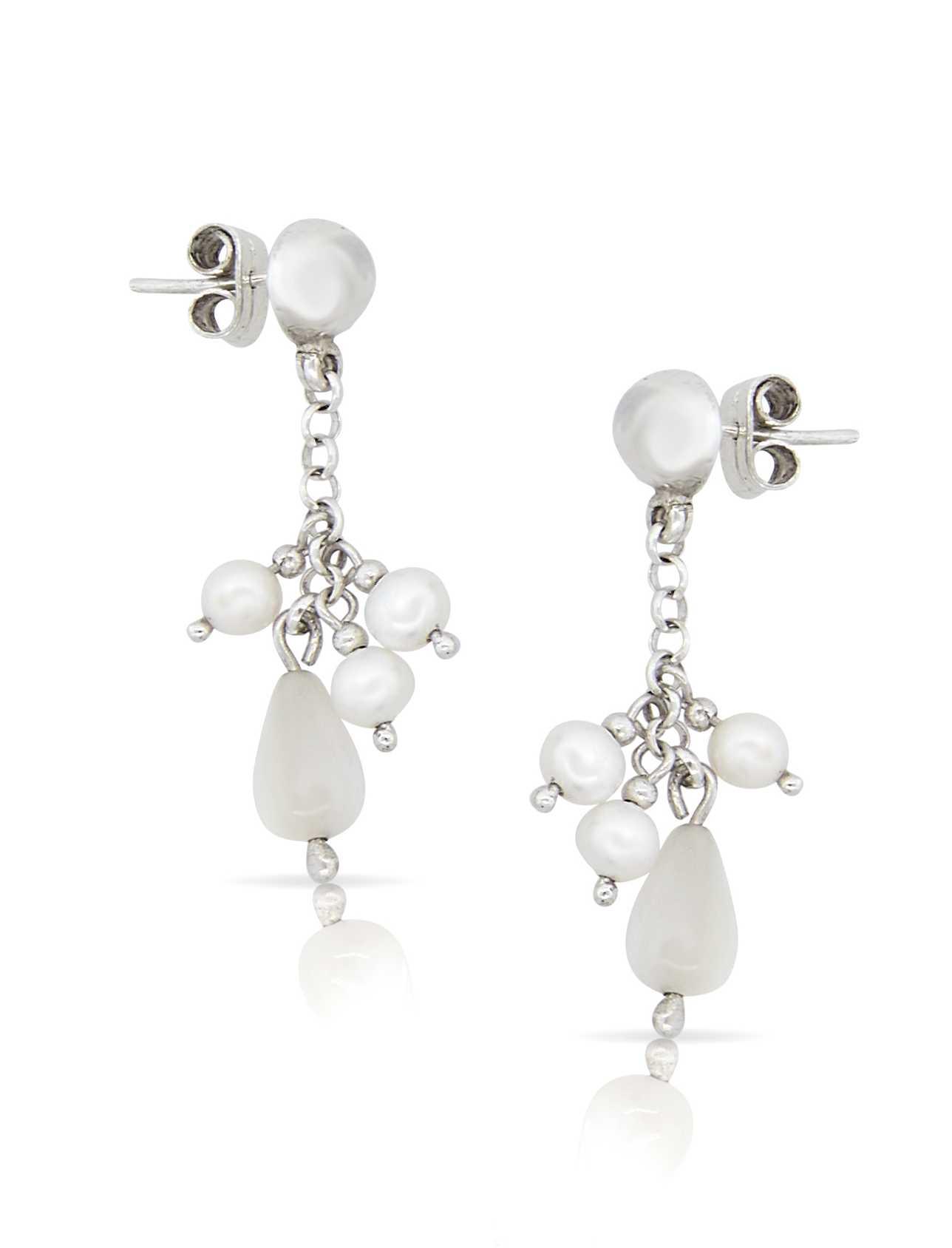 blooming bridal earrings