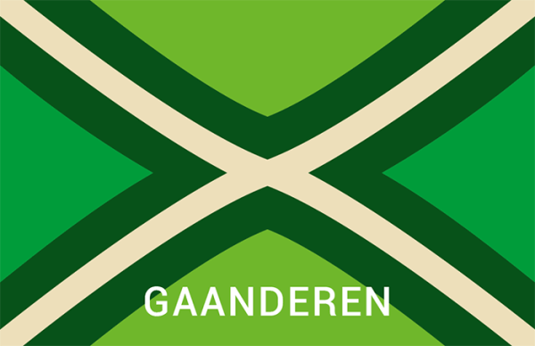 Achterhoekse Vlag Sticker Gaanderen