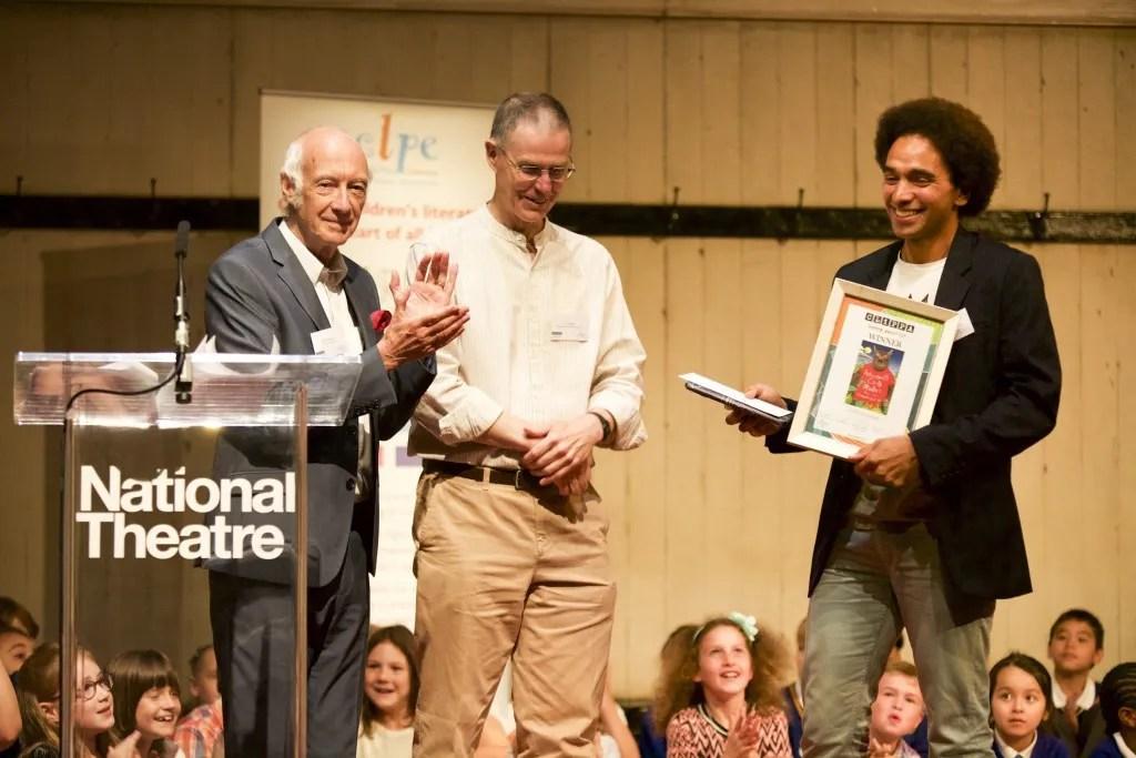 Roger McGough Tony Mitton 2014 winner and Joseph Coelho
