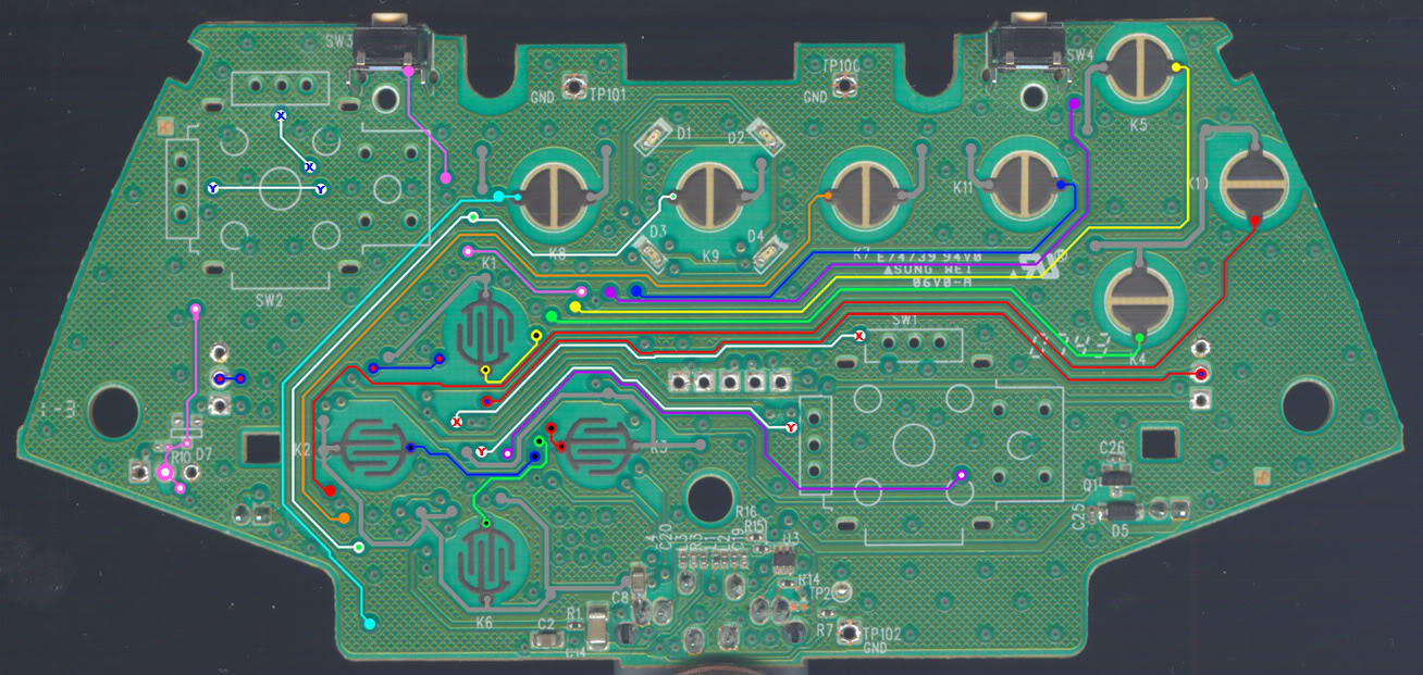 hight resolution of wired cl common line controller button analog traces xbox 360 schematics diagram wiring diagram xbox 360 controller
