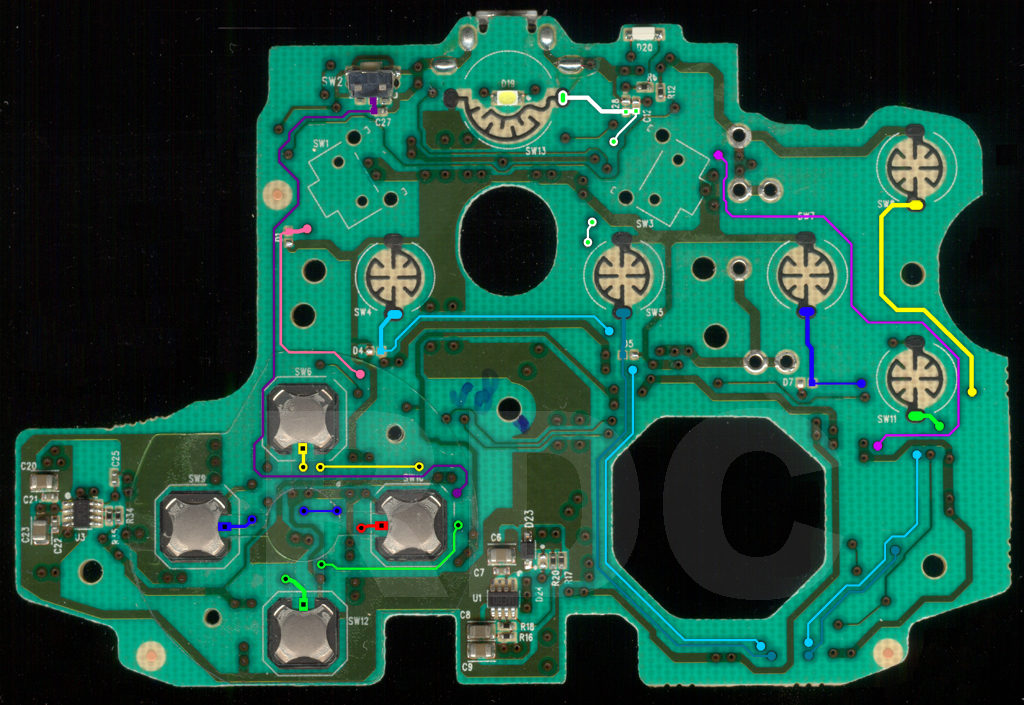 Xbox One Usb Wiring Diagram Xb1 Controller Pcb Scans Traces And Info 1537