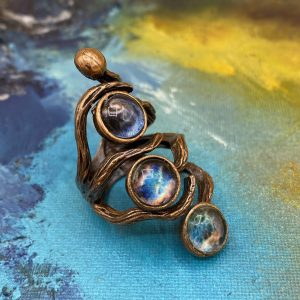 Blue Moon Phase Ring