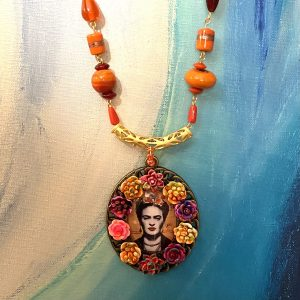 Frida Kahlo colorful necklace
