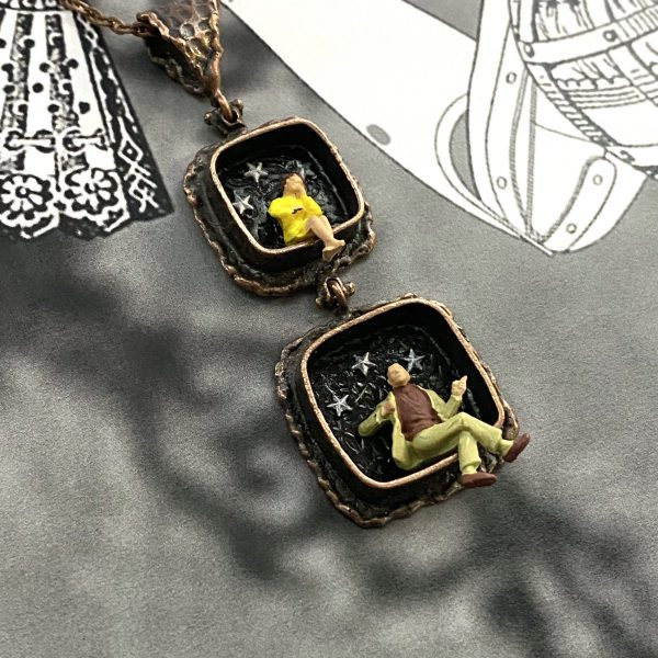 Starry Night Diorama Necklace
