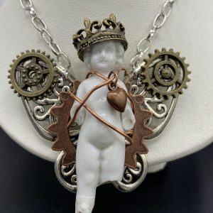 OOAK Frozen Charlotte doll Necklace