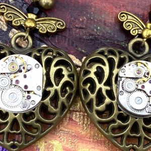 Steampunk Love Earrings