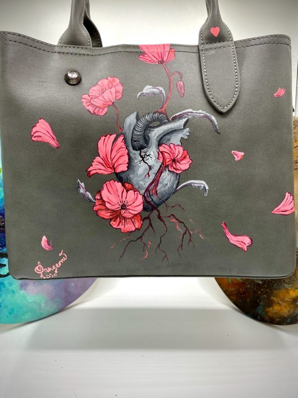 Plant a seed in your heart - Hand painted Bag