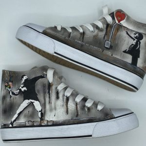 Banksy Sneakers Hand Painted