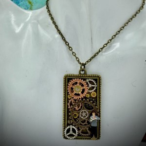 Diorama Necklace Steampunk Style