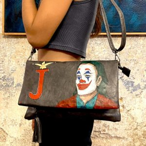 joker hand painted bag