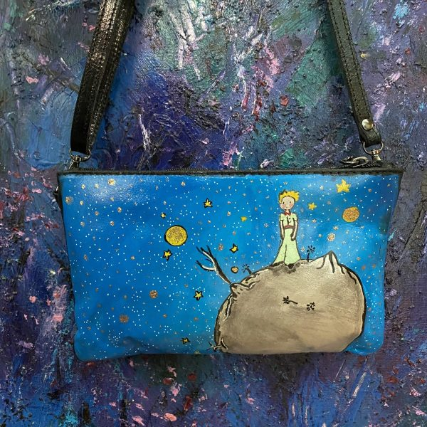 """Le Petit Prince"" hand painted bag"