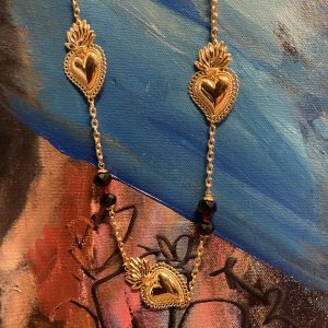 Gold Sacred Hearts Necklace