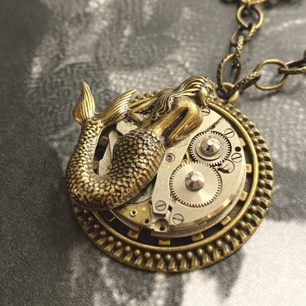 Steampunk Necklace with Siren